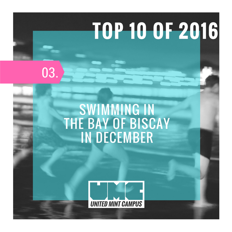 United Mint Campus Top 10 of 2016 Number 3 Swimming in the Bay of Biscay