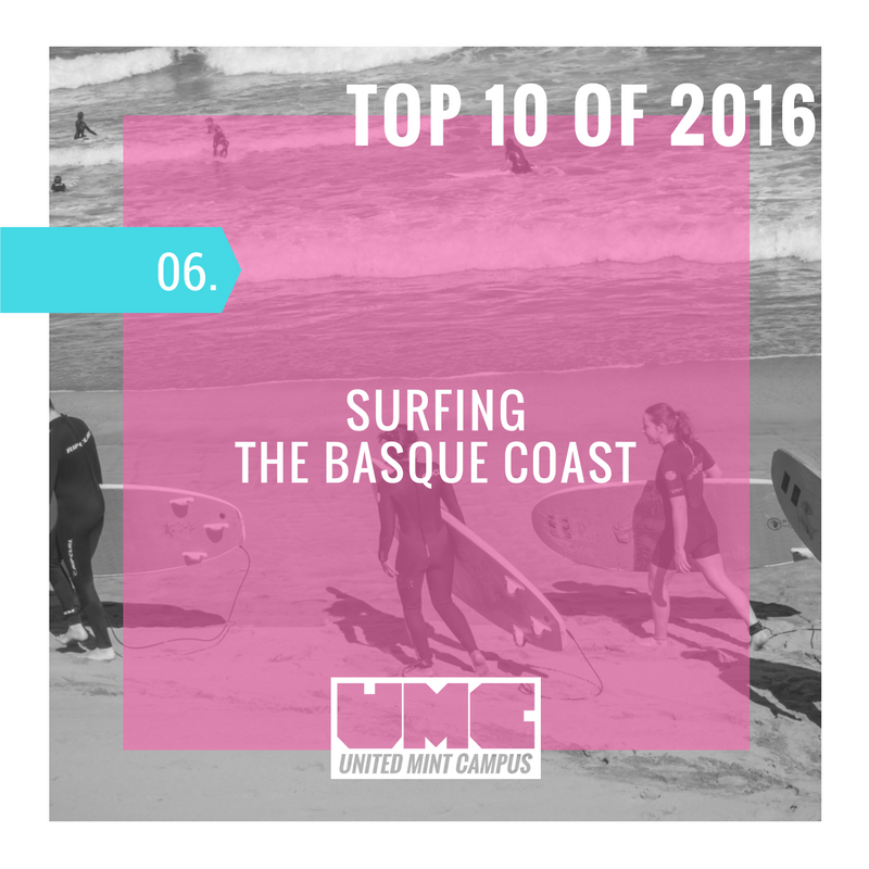 United Mint Campus Top 10 of 2016 Surfing the Basque Coast.